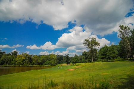 gold course landscape photo