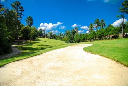 gold course landscape photo