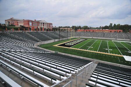 inside college football stadium