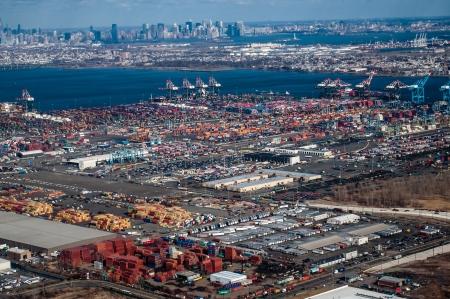 aerial view of newark Stock Photo - 16205429