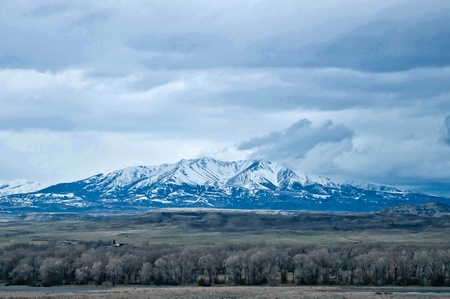 rocky mountains near yellowstone national park photo