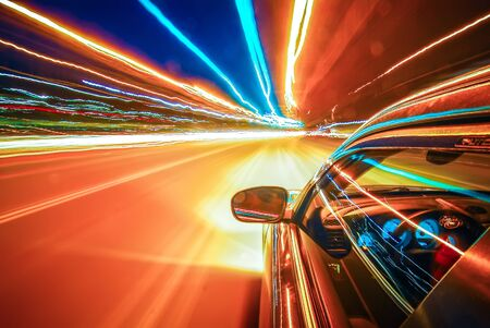 View from a moving vehicle gives feeling of a speed of light as timetravel
