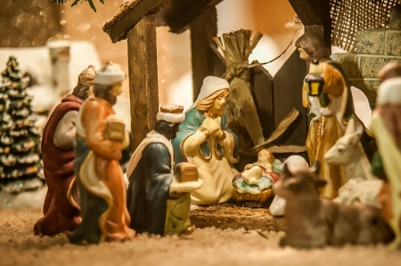crib: nativity scene