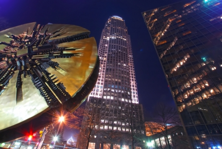 charlotte downtown at night 新聞圖片