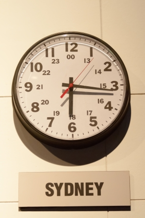 Timezone clocks showing different time photo