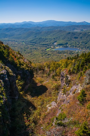 appalachian trail: View of the Blue Ridge Mountains during fall season from parkway Stock Photo