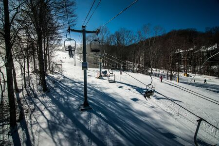 día soleado en la estación de esquí de Carolina del Norte en febrero Foto de archivo - 18146652
