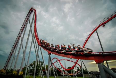 coaster: rollercoaster amusement park ride