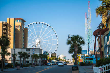 View of Myrtle Beach South Carolina in morning