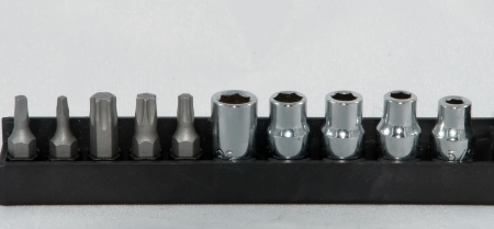 various size screwdriver pieces photo