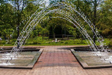 fountain inbotanic  Garden with beautiful nature photo