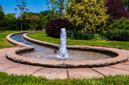 fountain inbotanic  Garden with beautiful nature Stock Photo