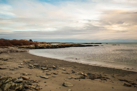 ri: A shot of an early morning aquidneck island, newport, ri Stock Photo