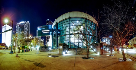 charlotte convention center at night