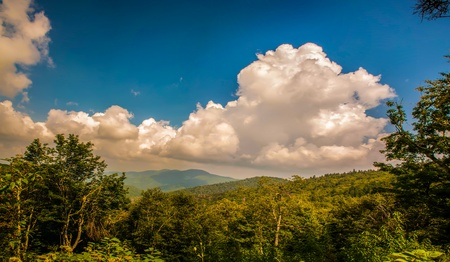 Blue Ridge Parkway Scenic Mountains Overlooking beautiful landscapes photo