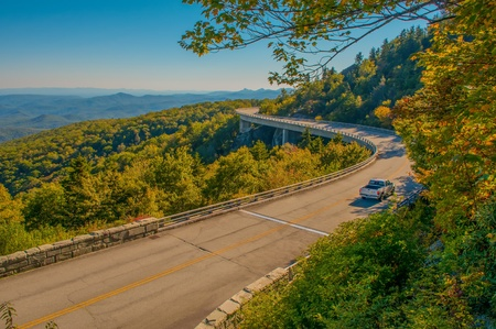 Blue Ridge Parkway Scenic Mountains Overlooking beautiful landscapes 版權商用圖片