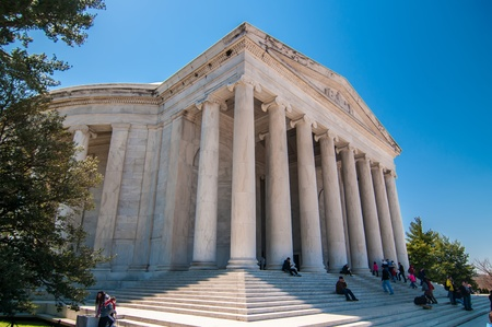 The Thomas Jefferson Memorial in the Washington DC