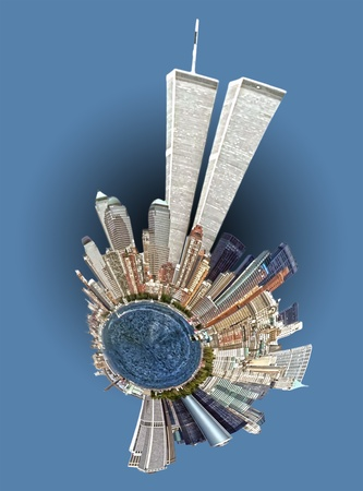 wtc: twin towers nyc skyline mini planet