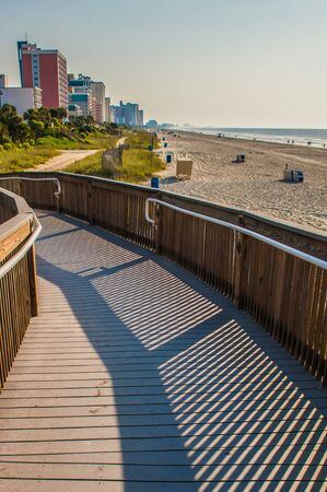 grand strand: morning beach scenes at  Myrtle Beach South Carolina Stock Photo
