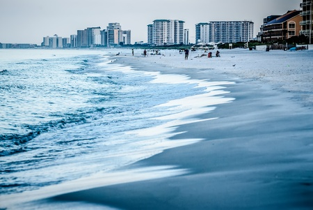 panama city beach: water life and beach scenes at destin florida Stock Photo