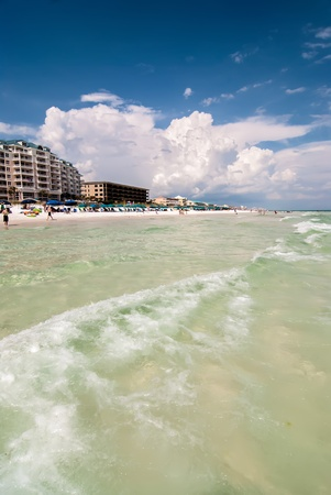 destin: ocean beach scenes at destin florida on a sunny day Stock Photo