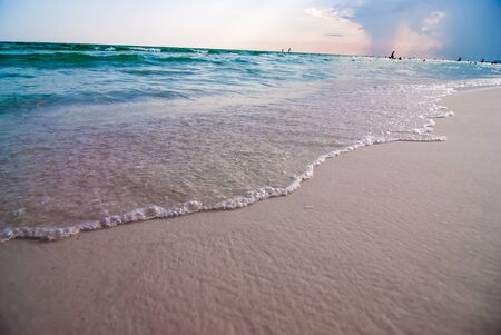 destin: crystal clear water and beach scenes at destin and panama city florida Stock Photo