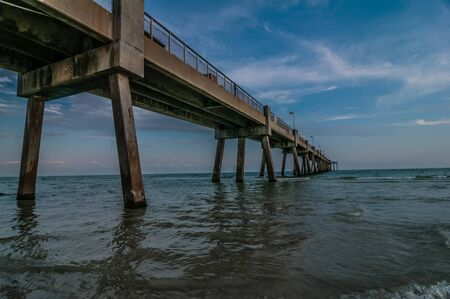 destin: okaloosa pier and beach scenes at sunset in florida