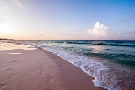 destin: morning sunrise at florida beach Stock Photo