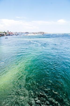 destin: crystal clear water at destin florida near okaloosa island Stock Photo
