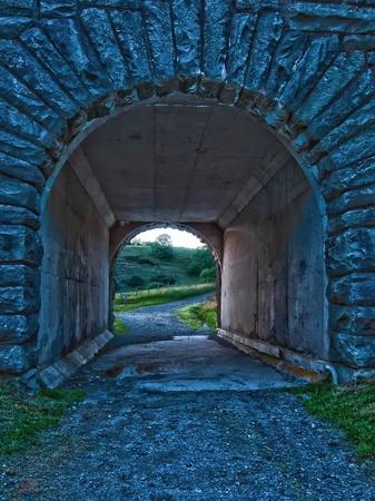 sturdy: old bridge tunnel off blue ridge parkway Stock Photo