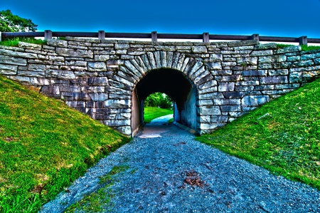 old bridge tunnel off blue ridge parkway Stock Photo