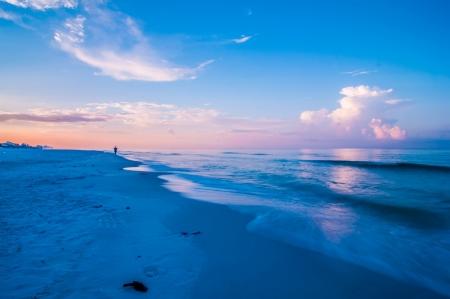 サンシャイステートのフロリダのビーチの日の出 写真素材
