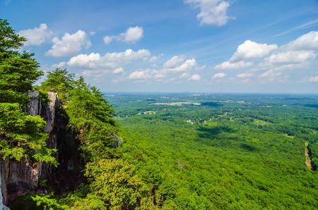 ガストニア ノースカロライナ近く crowders 山から美しい空中風景景色