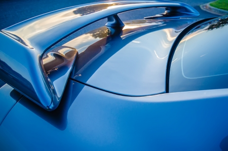 modern street race car spoiler