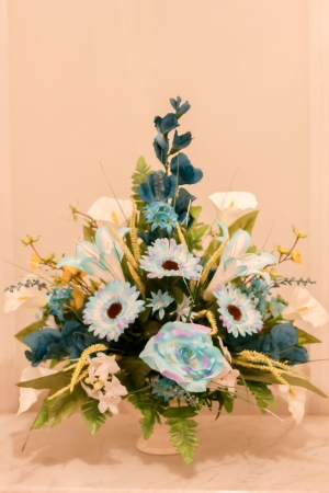 Beautiful bouquet of flowers at a clebration event photo