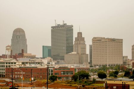 winston: A view of downtown Winston-Salem, North Carolina.