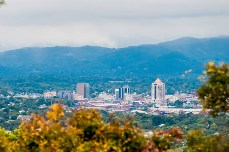 view of roanoke city from blue ridge parkway Zdjęcie Seryjne