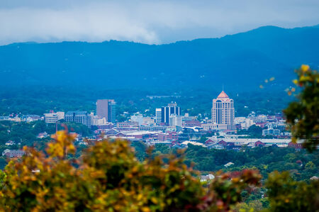 view of roanoke city from blue ridge parkway photo