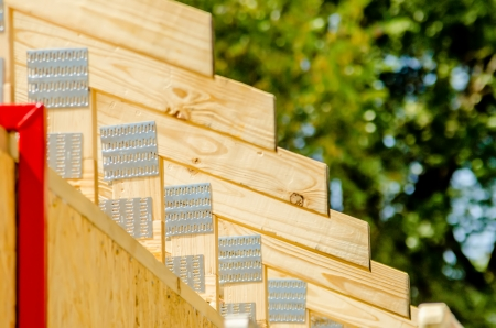 wooden structure of a new home roof Stock Photo - 22910844