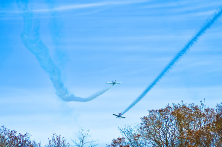 monroe: Monroe, NC - Nov 9 2013 - action in the sky during an airshow-warbirds over monroe