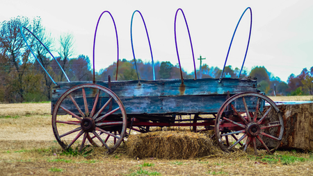hayride: hay rides trailer and tractor