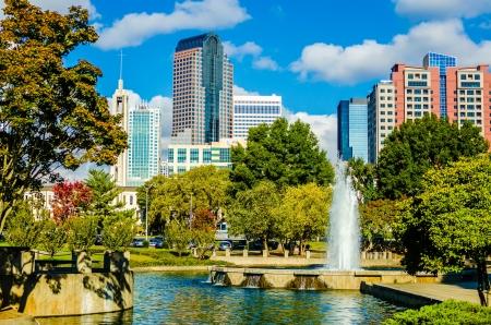 Skyline einer modernen Stadt - Charlotte, North Carolina, USA Lizenzfreie Bilder