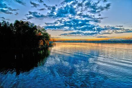 sunset at lake wylie north carolina