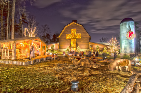 charlotte, nc - christmas celebration at billy graham public library photo