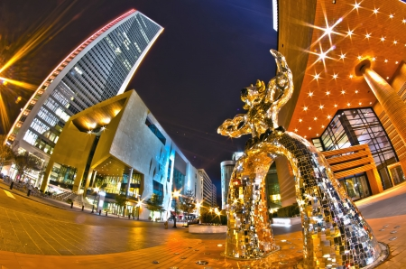 1st january, 2014, charlotte, nc, usa - nightlife around charlotte north carolina during holidays