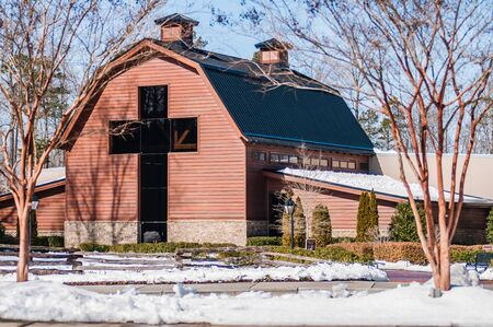 billy: snow covered landscape at billy graham free library