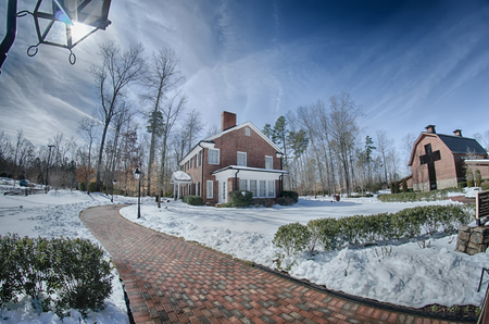 graham: snow around billy graham library after winter storm