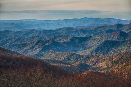 blue ridge: sunset view over blue ridge mountains