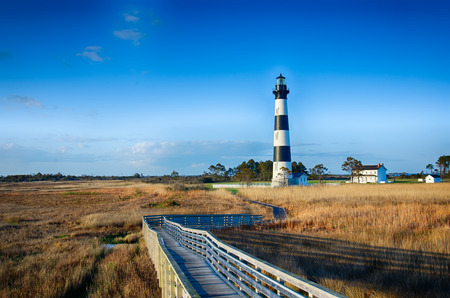 Bodie Island Lighthouse OBX Cabo Hatteras Carolina del Norte Foto de archivo - 27756082