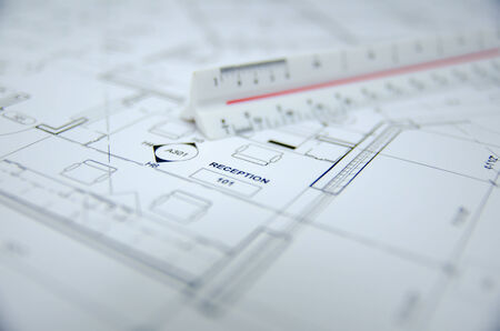 designer: architectural drawing background Stock Photo
